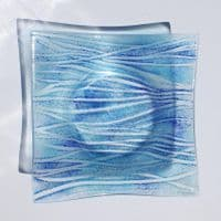 Fused Glass Bowl | Wave Design | Sally Kent